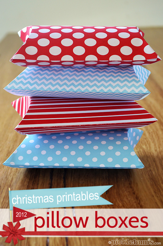 print and fold pillow boxes