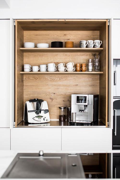 built in kitchen coffee bar ideas