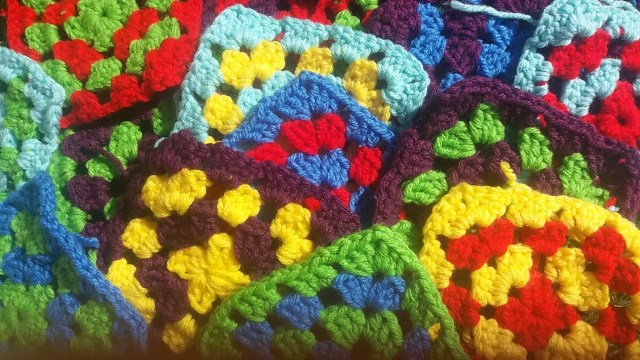 Colourful granny squares