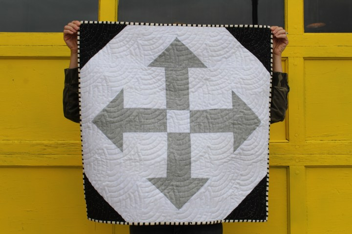 Black and White Baby Boy Quilt