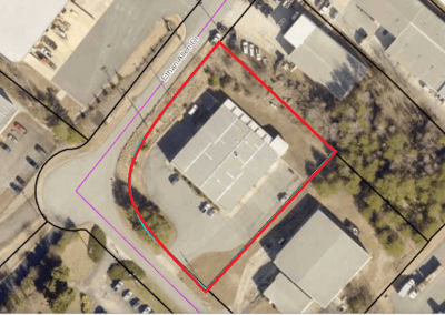 1.33 ac Zoned Industrial