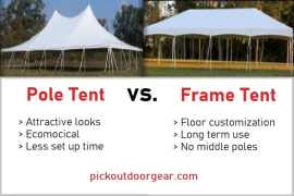 pole tent vs frame-tent