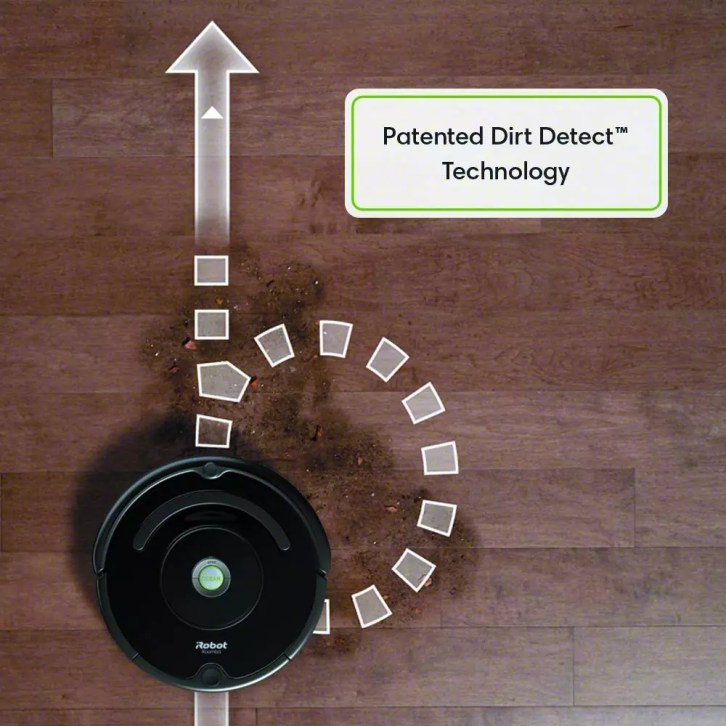 roomba 675 Patented dirt detect sensors
