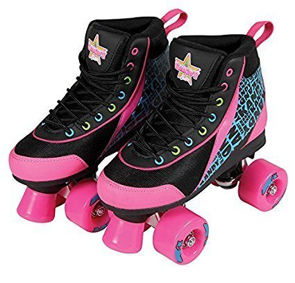 kandy black and pink roller skates