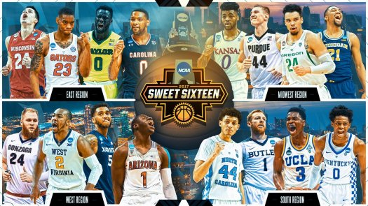 sweet 16 march madness 2017
