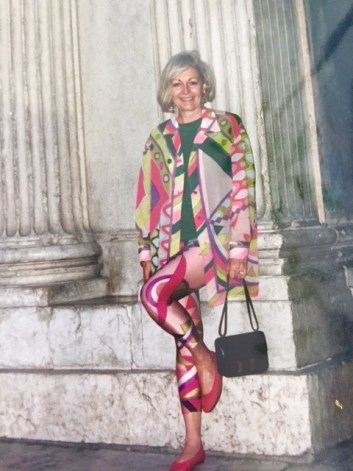 Wearing one of my favorite Pucci outfits to a private luncheon with the winemakers of Bellavista Wines in Italy.