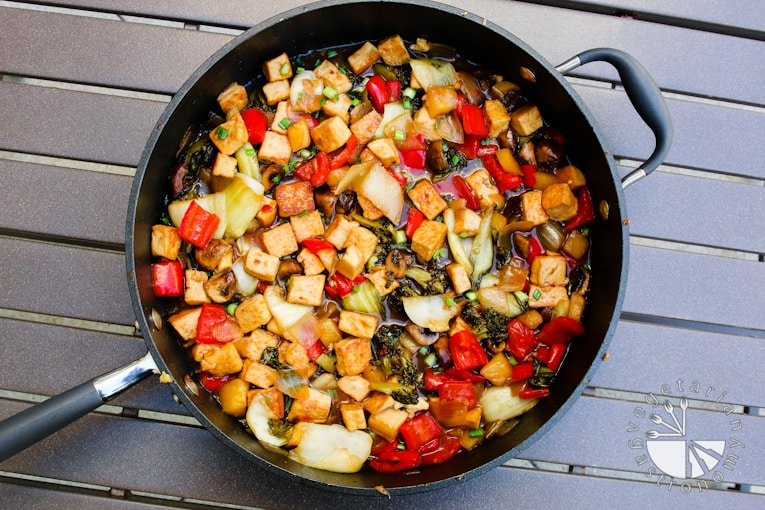 VG sweet and sour vegetable tofu-4