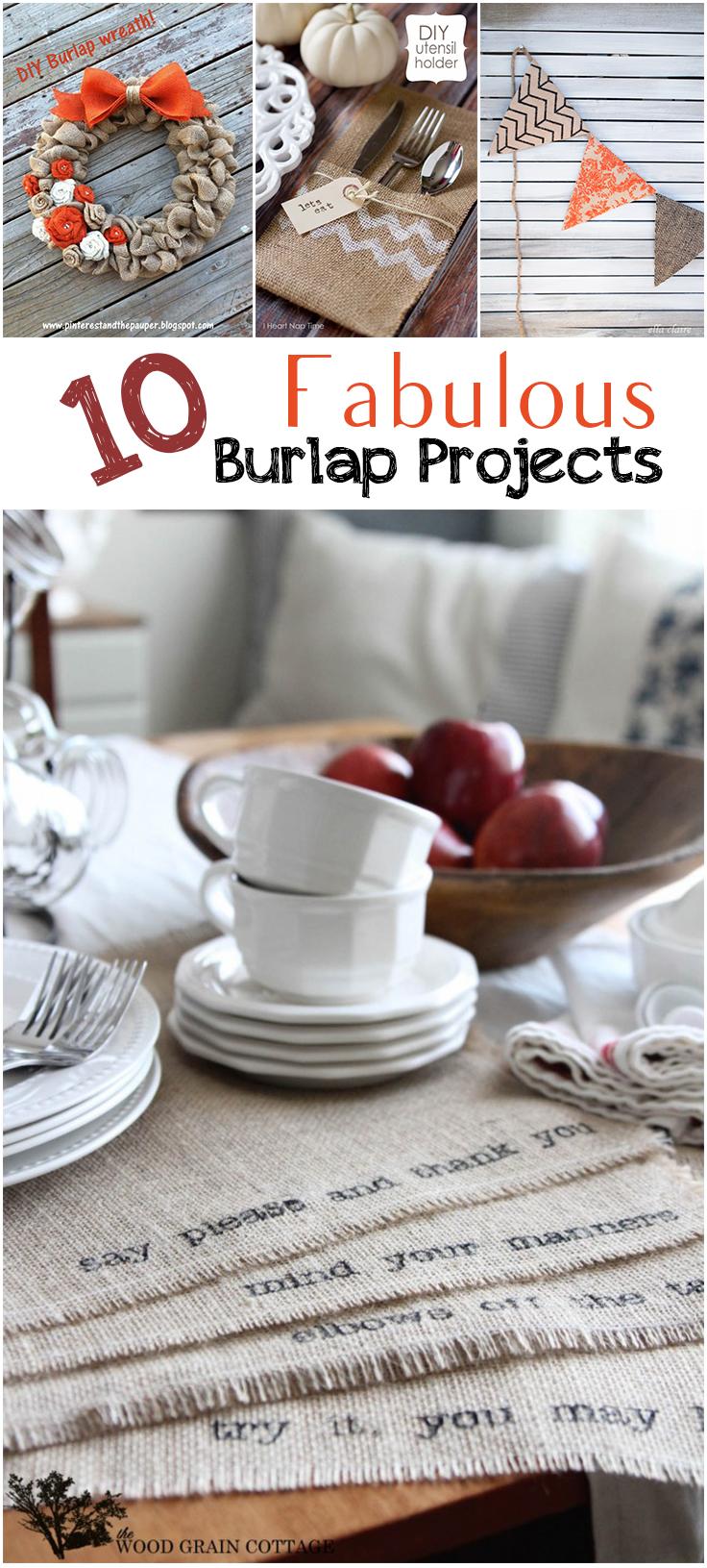 10 Fabulous Burlap Projects