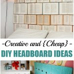 Creative and {Cheap} DIY Headboard Ideas