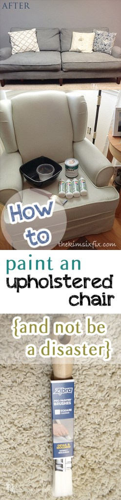 How to Paint an Upholstered Chair {and Not Be a Disaster}