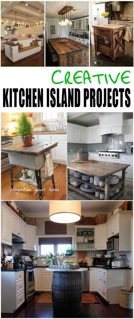 kitchen island, kitchen island projects, DIY kitchen islands, popular pin, DIY home decor, kitchen decor, decorating in the kitchen, kitchen organization.