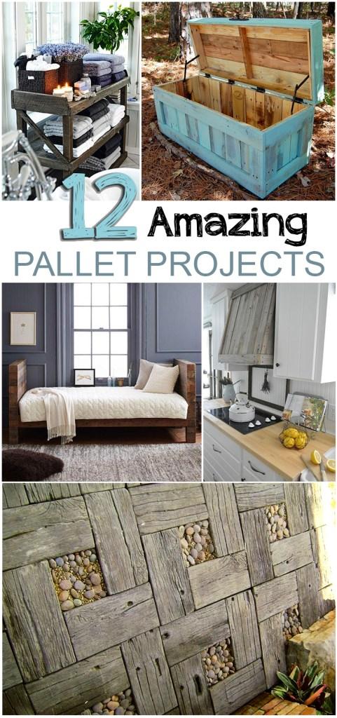 12 Amazing Pallet Projects  #Pallet Projects #PalletDIYS #RepurposeProjects #DIYHome #DIYHomeDecor #HomeDecorProjects #EasyHomeDIYs