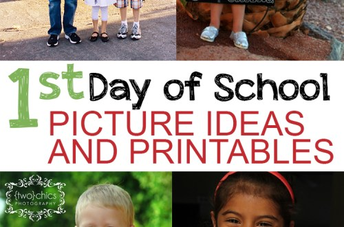 1st Day of School Picture Ideas and Printables
