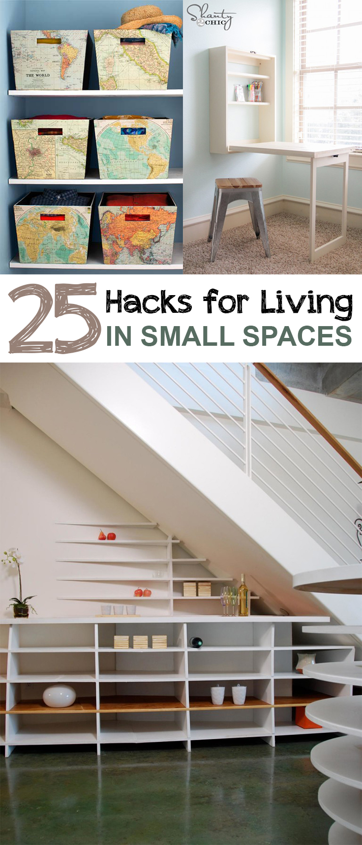 Small space living, DIY home decor, small space decorating, organizing small spaces, popular pin, living in small spaces, storage ideas.