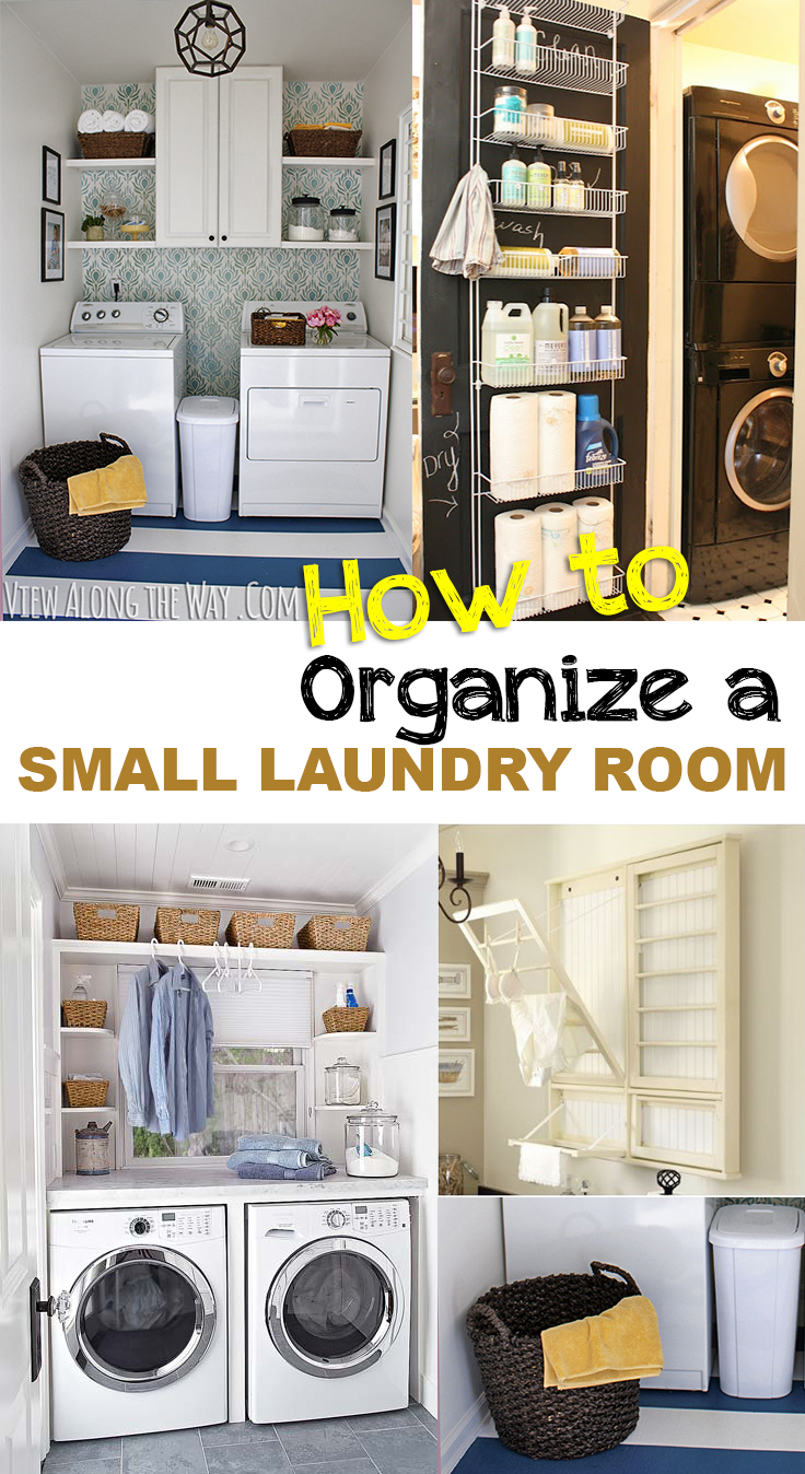 How to Organize a Small Laundry Room • Picky Stitch on Laundry Room Organization Ideas  id=81669