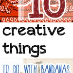 Bandanas, things to do with bandanas, popular pin, DIY home decor, home decor, DIY, DIY crafts, summer craft ideas.
