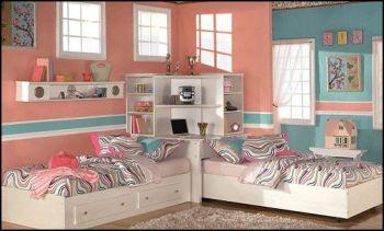 Bedroom, bedroom ideas, home decor, DIY home decor, bedroom design ideas, shared bedroom ideas, popular pin.