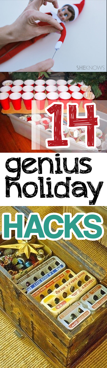 Holiday Hacks, Christmas Tips and Tricks, Easy Holiday Tips, Easy Ways to Decorate for Christmas, Christmas Party Tips and Tricks, Christmas Home Decor Ideas, Popular Pin, DIY Holiday, Holiday Home Decor