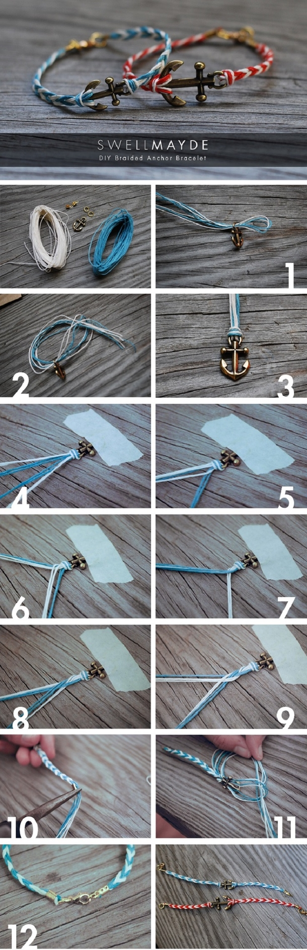 12 Super Simple Homemade Bracelet Tutorials7