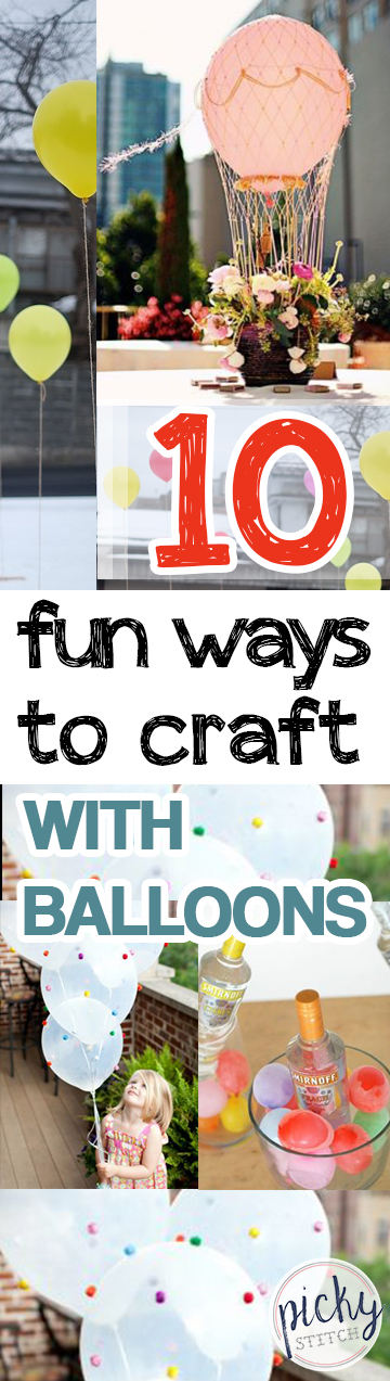 Crafts, EAsy Craft Projects, Crafting With Balloons, Things to Do With Balloons, Crafts for Kids, Easy Crafts for Kids, Balloons, How to Use Balloons, Popular Pin