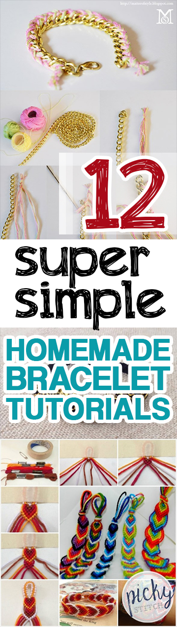 Homemade Bracelets, Homemade Bracelet Tutorials, Crafts, Craft Tutorials, Crafts for Teens, Easy Crafts for Teenagers, Crafts for Kids, Quick Crafts for Kids, Handmade Bracelets, Handmade Friendship Bracelets, DIY Friendship Bracelets, Popular
