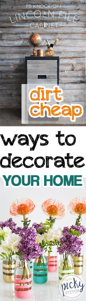 Dirt Cheap Ways to Decorate Your Home. Home Decor, Cheap Ways to Decorate Your Home, Dirt Cheap Interior Design, Cheap Interior Design Hacks, Inexpensive Interior Design, Popular Home Decor Pin, Crafts, Crafting, Crafting Tips