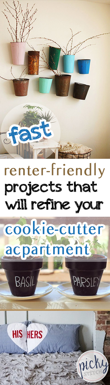 Fast Renter-Friendly Projects That Will Refine Your Cookie-Cutter Apartment - Renter Friendly Projects, DIY Apartment Projects, Apartment Decor Ideas, How to Decorate Your Apartment Without Painting.