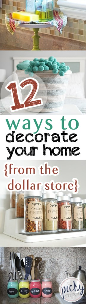 12 Ways to Decorate Your Home {From the Dollar Store} Dollar Store Decor, Dollar Store Home Decor, Home Decor from the Dollar Store, DIY Home, DIY Home Decor, Cheap Home Decor, Frugal Home Decor, Popular Pin