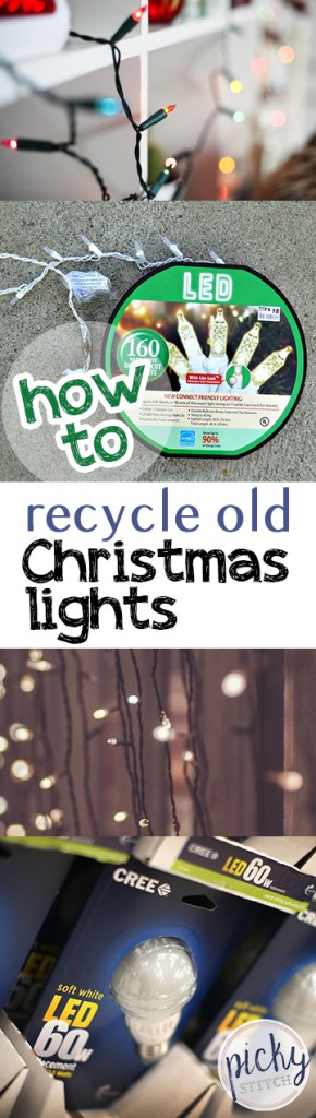 How to Recycle Old Christmas Lights| Recycling, Home Recycling Tips and Tricks, Christmas Light Recycling, Christmas Light Decor, #Christmas #ChristmasLights