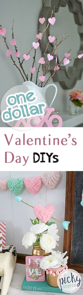 One Dollar Valentines Day DIYs| Valentines Day, Valentines Day DIY Projects, One Dollar Valentines Day Projects, One Dollar DIYs, Valentines Day Hacks, Popular Pin #ValentinesDay #ValentinesDayDIYs