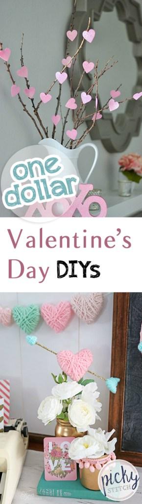 One Dollar Valentines Day DIYs| Valentines Day, Valentines Day DIY Projects, One Dollar Valentines Day Projects, One Dollar DIYs, Valentines Day Hacks, Popular Pin #ValentinesDay #ValentinesDayDIYs