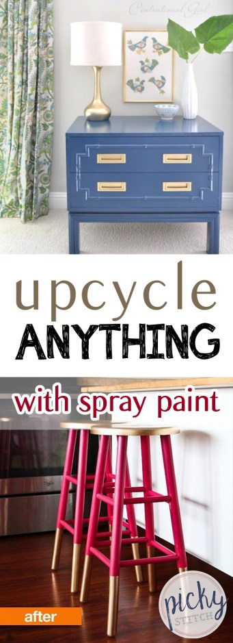 Upcycle ANYTHING With Spray Paint| Spray Paint, Spray Paint DIY Projects, DIY Spray Paint Projects, Spray Paint Hacks, DIY Furniture, Furniture Hacks, Spray Paint, Working With Spray Paint, Popular Pin #SprayPaint #FurnitureProjects
