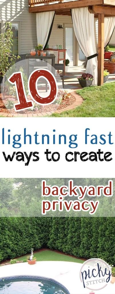 10 Lightning Fast Ways to Create Backyard Privacy - Picky ...