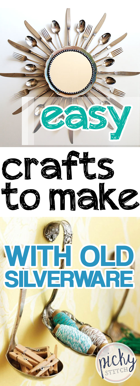 Easy Crafts to Make With Old Silverware| Easy Crafts, Easy Crafts for Kids, Silverware Crafts, Easy Silverware Crafts, Silverware Crafts DIY, SIlverware Crafts Repurposed