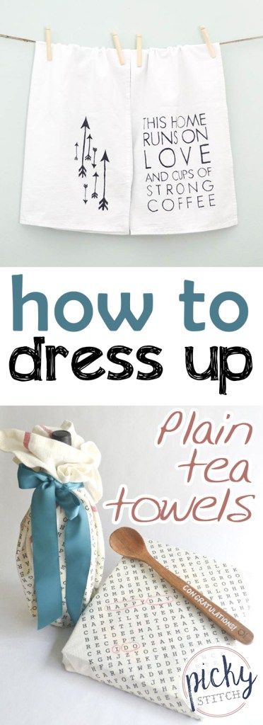 How to Dress Up Plain Tea Towels | Tea Towels DIY, Tea Towel Crafts,  TEa Towel Crafts , DIY, Crafts, Easy Crafts, DIY Crafts