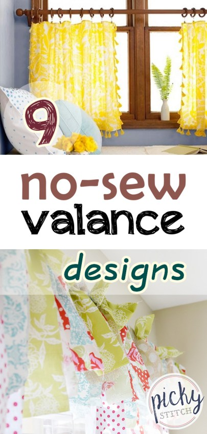 valance designs, no-sew valance designs, DIY valence designs, valence design ideas, no-sew valence design ideas
