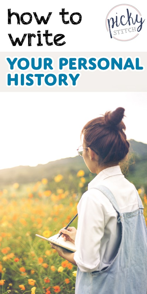 history | personal history | biography | writing | how to | how to write your personal history | memoir | autobiography