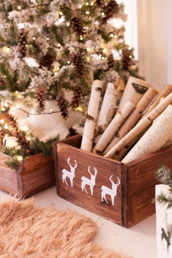 If you love rustic Christmas decor, you will love these birch wood Christmas decor ideas. They are so cute and easy to make.