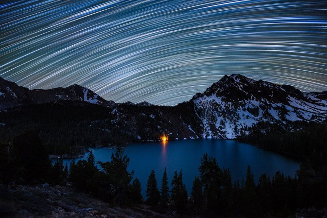 Star Trails over Green Lake