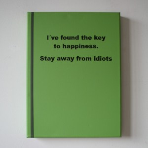 the key to happiness.