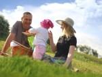 familie på picnic