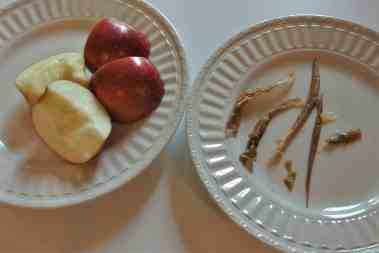 Apples: before & after