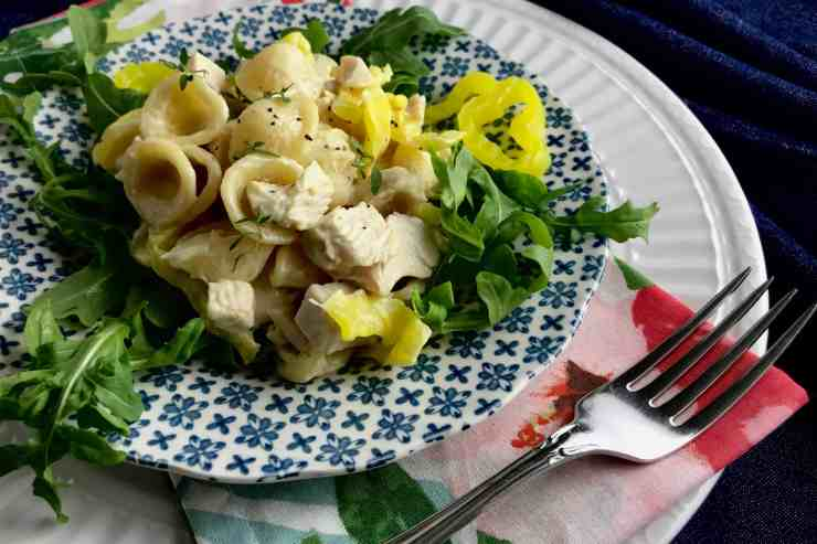 Chicken Pasta Salad with Peperoncini