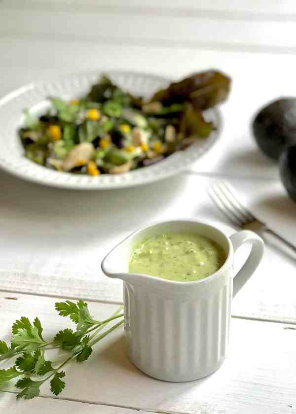 Salad with Verde Goddess Dressing