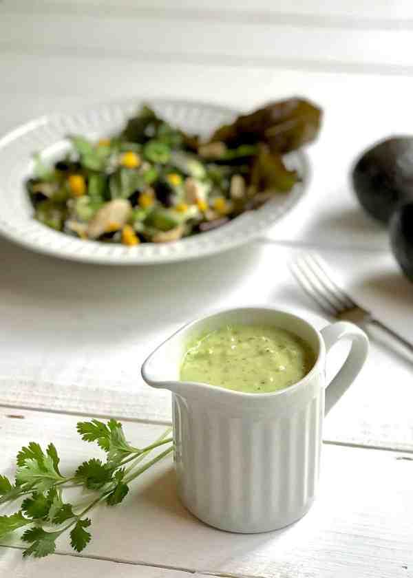 Salad with Verde Goddess Dressing