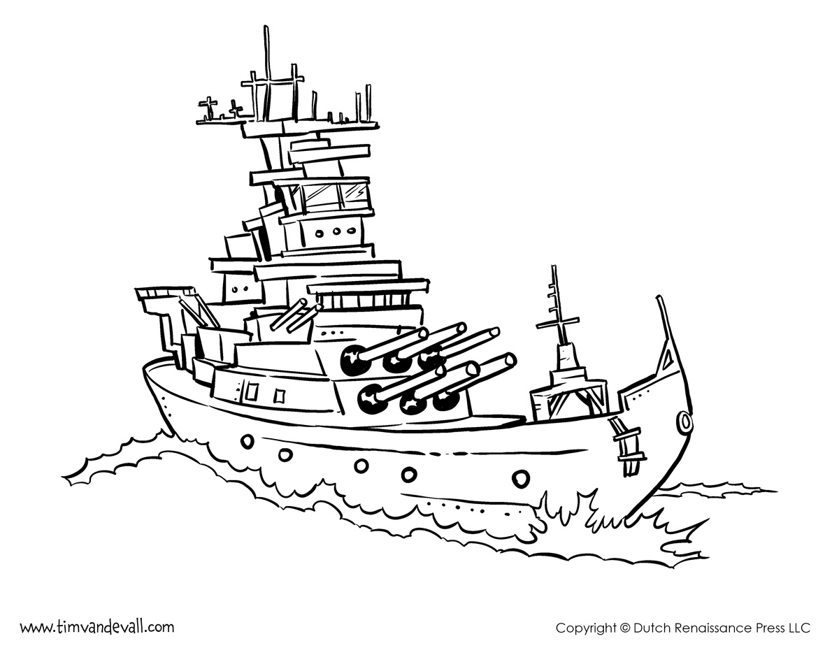 Magnificent Superb Battleship Colouring Pages