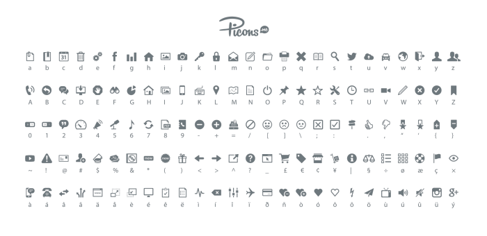 Picons Font - Overview