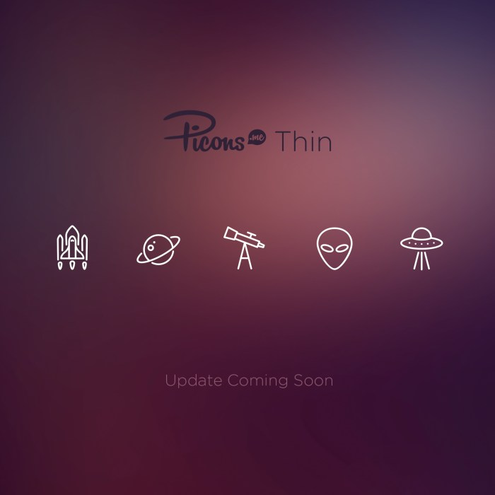 Picons Thin - update soon