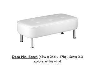 White Deco Mini Bench