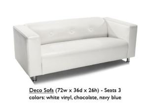 deco sofa-white